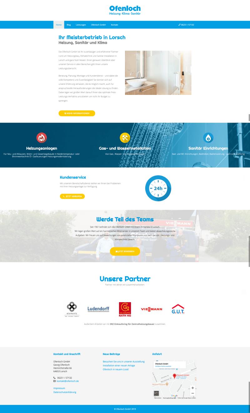 Referenz Ofenloch Webseite