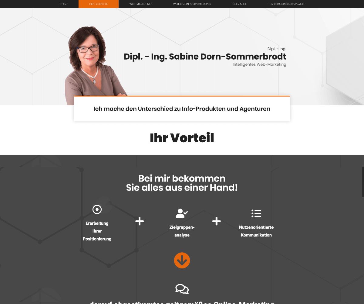 Referenz Sabine Dorn-Sommerbrodt Webseite