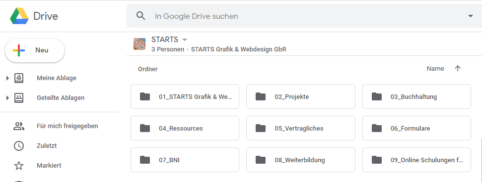 Google Drive STARTS