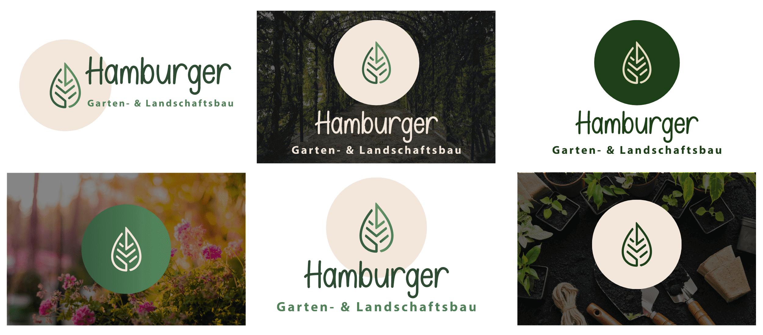 Hamburger Logo Variationen