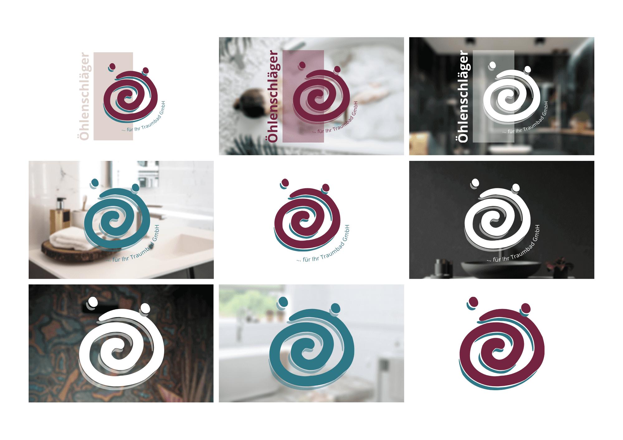 Bäderstudio Öhlenschläger Logovarianten
